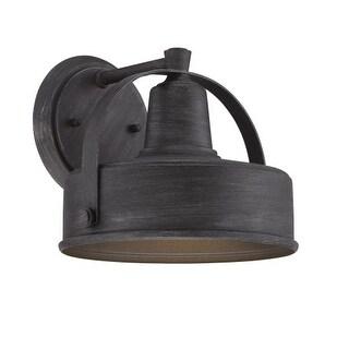 "Designers Fountain 33141 Portland-DS 11"" Width 1 Light Dark Sky Outdoor Lantern Wall Sconce"