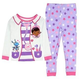 Disney Doc McStuffins Little Girls Long Sleeve Cotton Pajama Set