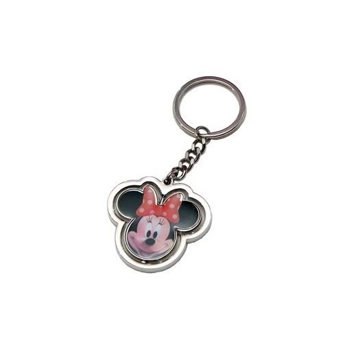 Disney Minnie Mouse Head Spinner Key Ring - Multi
