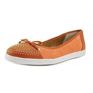 J. Renee Marenda Women  Round Toe Leather Orange Flats