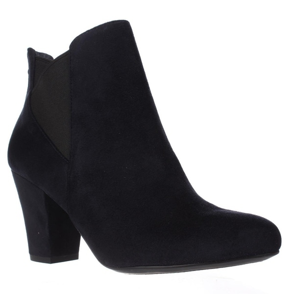 BCBGeneration Dolan Heeled Chelsea Ankle Boots, Navy/Black