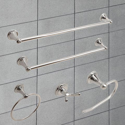 "Vanity Art Chrome 5 Piece Bathroom Hardware Set LF31-CH - 24""L*0.75W"