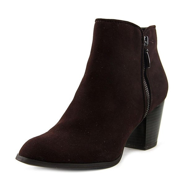 Style & Co Jamila Women Round Toe Synthetic Brown Ankle Boot