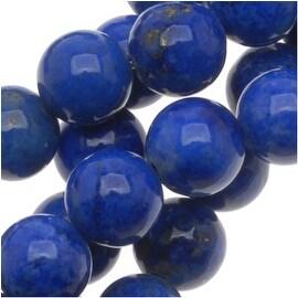Blue Lapis Lazuli A Round Beads 6mm - 15.5 Inch Strand