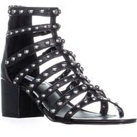 Steve Madden Mania Strappy Block Heel Sandals, Black Multi