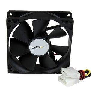 Startech.Com 92X25mm Dual Ball Bearing Computer Case Fan With Lp4 Connector Fanbox92 (Black)
