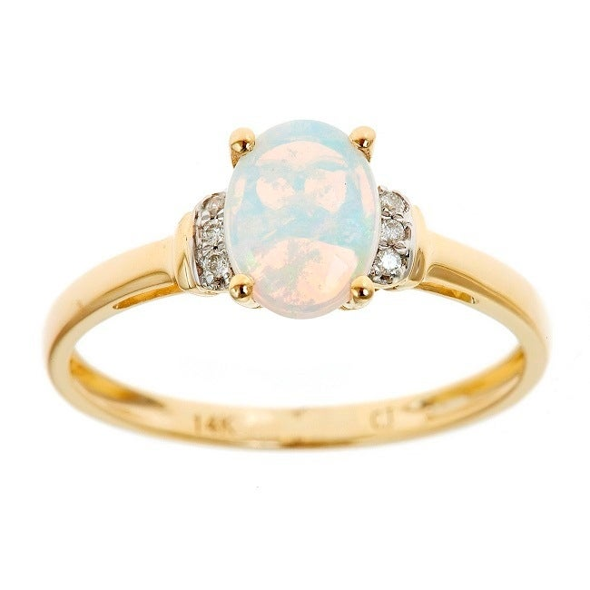 14k Yellow Gold Finish 4Ct Oval Cut Fire Opal Ruby Round Engagement halo Ring