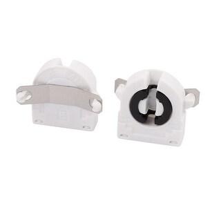 2 Pcs AC500V 2A G13-F41A T8 Light Socket G13 Base Fluorescent Lamp Holder White