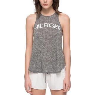 Tommy Hilfiger Womens Tank Top Knit Mesh Back - M