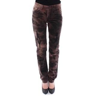Dolce & Gabbana Brown Cotton Regular Fit STYLISH Jeans