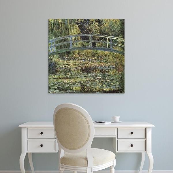 Easy Art Prints Claude Monet's 'The Waterlily Pond' Premium Canvas Art
