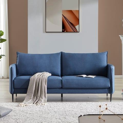 Nestfair Modern Design Couch Soft Linen Upholstery Loveseat