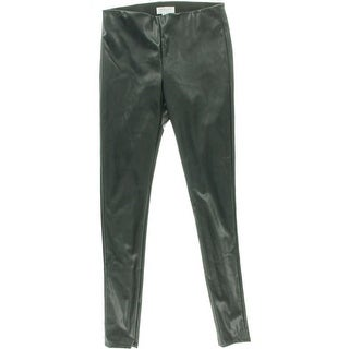 VELVET BY GRAHAM & SPENCER Womens Faux Leather Ankle Zip Skinny Pants