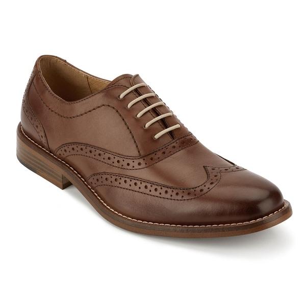 G.H. Bass & Co. Mens Corbin Leather Wingtip Oxford Shoe