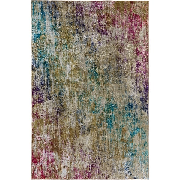 Porch & Den Moon Rise Abstract Pattern Velvet Area Rug. Opens flyout.