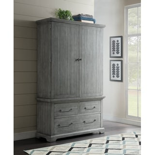 Link to Martin Svensson Home Beach House 3 Drawer Armoire, Dove Grey Similar Items in Bedroom Furniture