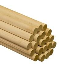 "1 Pc of 1"" x 36"" Birch Wood Dowels"