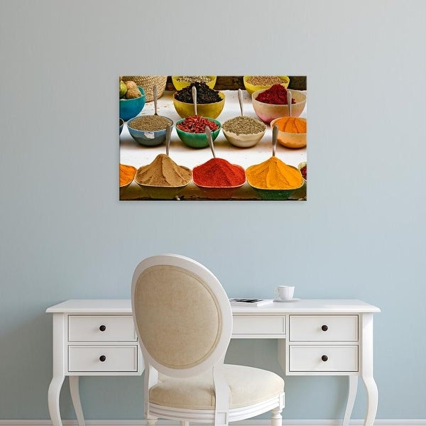 Easy Art Prints Adam Jones's 'Various Colorful Spices At Bazaar In Luxor' Premium Canvas Art