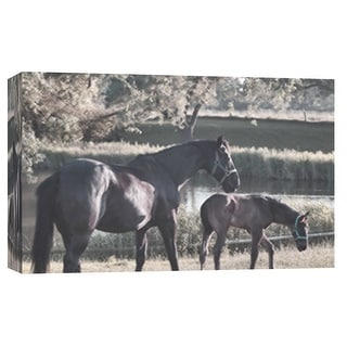 "PTM Images 9-101874  PTM Canvas Collection 8"" x 10"" - ""Schagen Set"" Giclee Horses Art Print on Canvas"