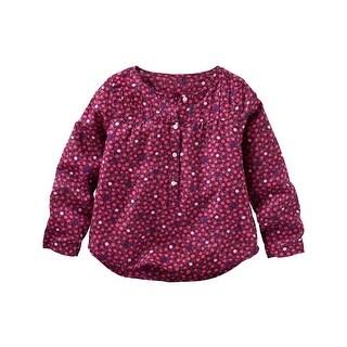 OshKosh B'gosh Little Girls' Floral Top, 5 Kids