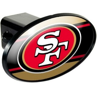 Great American Products San Francisco 49Ers Oval Trailer Hitch Cover Oval Trailer Hitch Cover