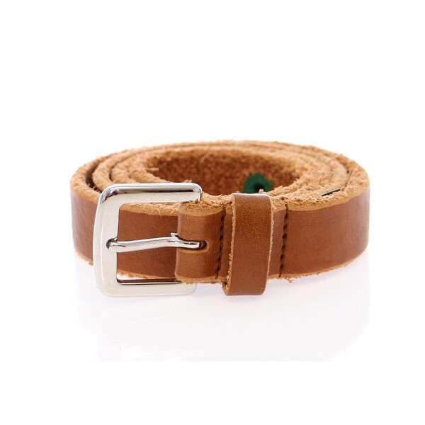 Dolce & Gabbana Brown Leather Logo Belt