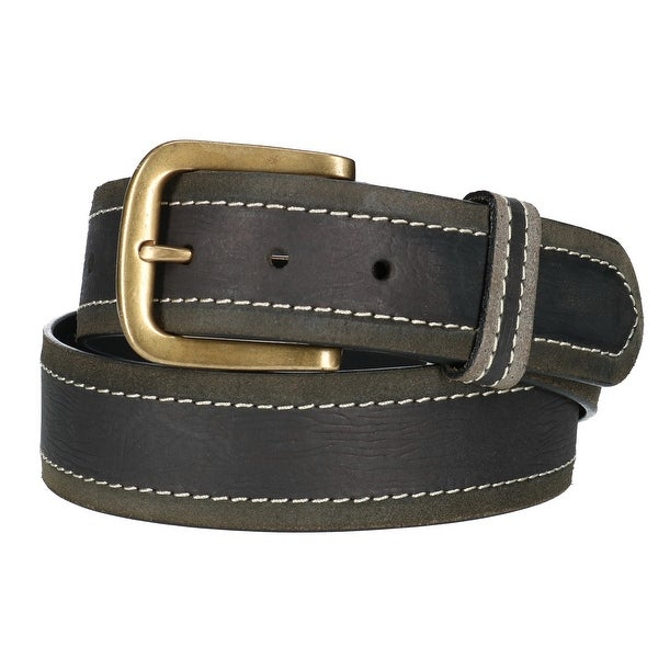 Paul & Taylor Mens Two Tone Bridle Belt with Removable Buckle