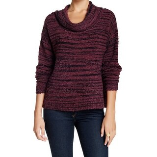 Plenty by Tracy Reese NEW Red Black Striped Small S Cowl Neck Sweater