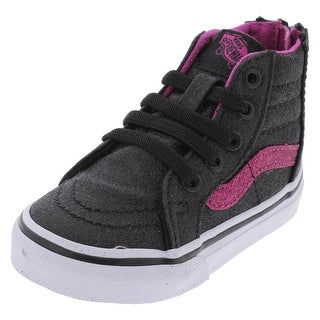 Vans Girls SK8-Hi Fashion Sneakers High-Top Faux Laces - 5 medium (d) toddler