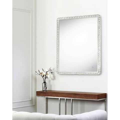 Marilyn Chrome Large Rectangular Illuminated Mirror
