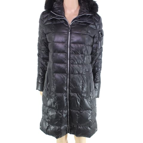 Marc York By Andrew Marc Women's Hooded Black Size Small S Coat