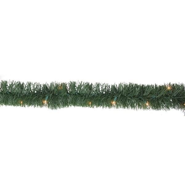 18' x 3.5 Pre-Lit Green Pine Artificial Christmas Garland - Clear Lights