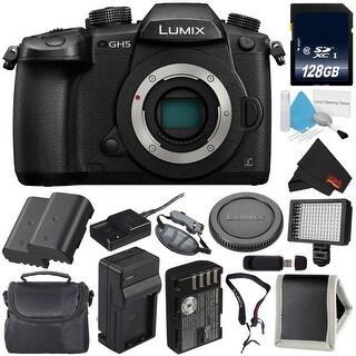 Panasonic Lumix DC-GH5 Mirrorless Micro Four Thirds Digital Camera (Body Only) + Battery for Panasonic DMW-BLF19 Bundle