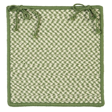 Outdoor Houndstooth Tweed Chair Pad