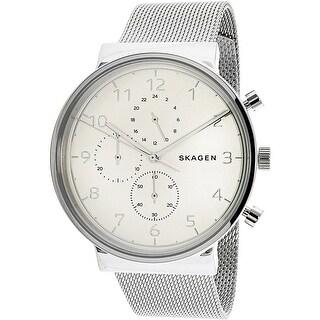 Skagen Men's Ancher SKW6361 Silver Stainless-Steel Quartz Fashion Watch