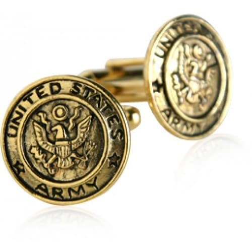 US Army Cufflinks Gold Military