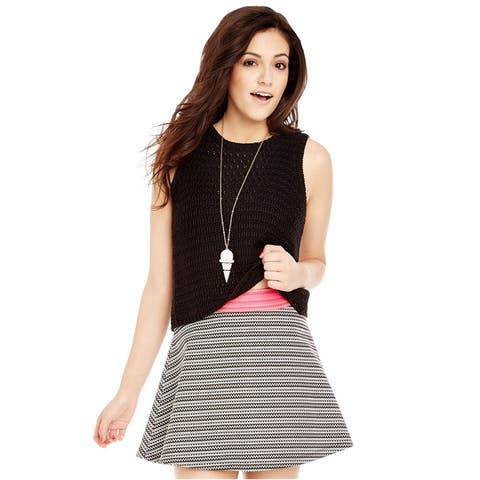 Aeropostale Womens Zigzag Skater Mini Skirt