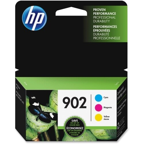 HP 902 3-pack Cyan-Magenta-Yellow Original Ink Cartridges (Single Pack) Original Ink Cartridge