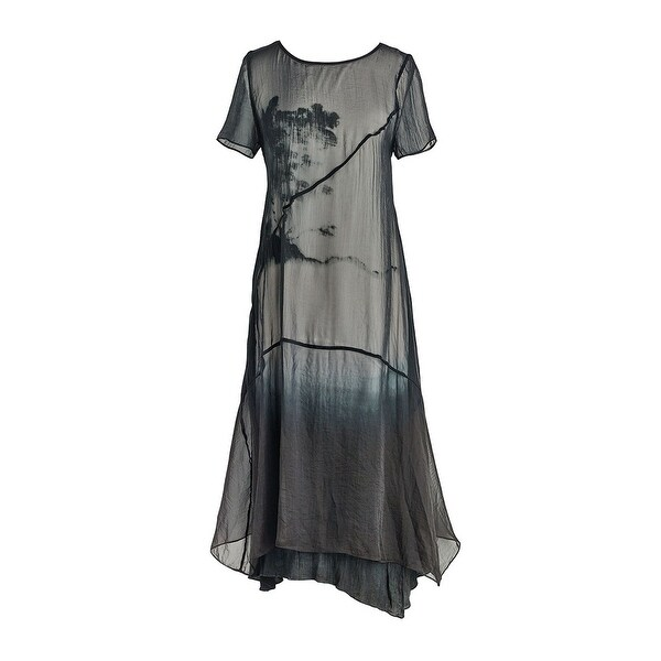 Shop Catalog Classics Womens Layered Black Midi Dress Short