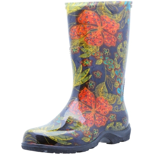 Sloggers 5002BK07 Women's Rain And Garden Boots, Midsummer Black, Size 7