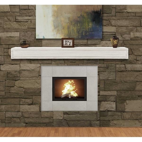"""60"""" Contemporary Linen MDF Mantel Shelf"""
