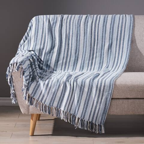 Franelm Boho Handcrafted Cotton Throw Blanket by Christopher Knight Home