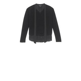 Bobeau Brooks Mixed Media Plus Size Sweater