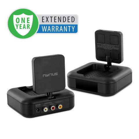 Nyrius 5.8GHz 4 Channel Wireless Video Sender Transmitter & Receiver with Remote Extender - 1 Year Extended Warranty