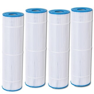 Costway 4 Pack Replacement Pool Filter Cartridge PCC105 Clean Clear FC-1977 C-7471 - White