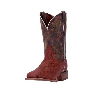 Dan Post Western Boots Mens Clark Orthotic Square Cognac Tan DP2432