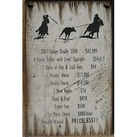 Cowboy Signs Wood Wall Hanging Western Team Ropers White Brown