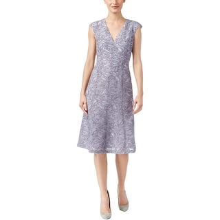 Anne Klein Womens Sundress Textured V-Neck|https://ak1.ostkcdn.com/images/products/is/images/direct/1d0dfb3466a3c1615df28a6af1fb6227a8de17a3/Anne-Klein-Womens-Sundress-Textured-V-Neck.jpg?impolicy=medium