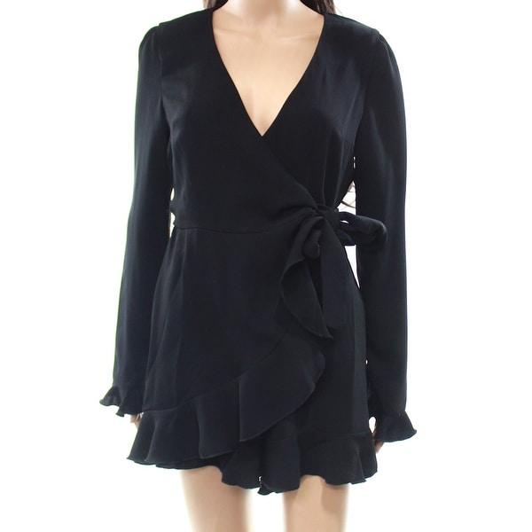 3903667a64c1 Shop Lea   Viola NEW Black Women s Size XS Surplice Ruffled Keyhole Romper  - Free Shipping Today - Overstock - 21796282