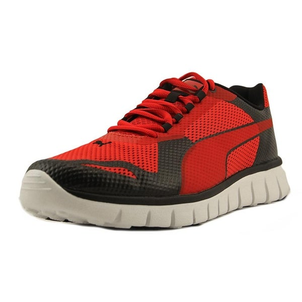 Puma Blur Men  Round Toe Canvas Red Tennis Shoe
